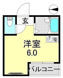 アイエムタワー[6O1号室号室]の間取り