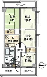 ホーユウパレス板橋仲宿[5階]の間取り