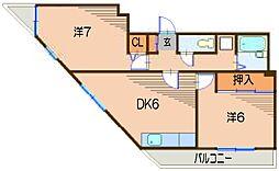 カサベルデ・セヒア[3階]の間取り