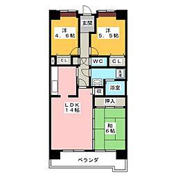 アーバンドエル八事石坂[5階]の間取り