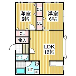 カモミール[2階]の間取り
