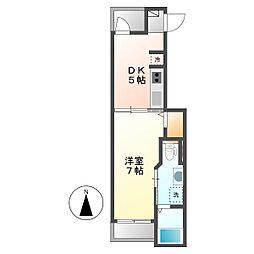 メゾンF[3階]の間取り