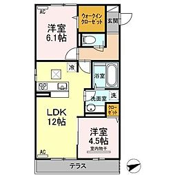 D-room Life[3階]の間取り