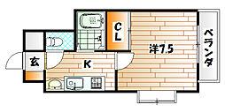パークサイド60[9階]の間取り
