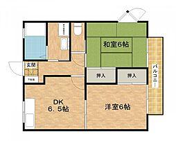 城西ハイツIII[2階]の間取り