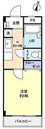 滝不動駅前S.K.ハイツ[2階]の間取り