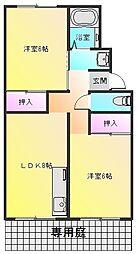 ハイツ高田[101号室]の間取り