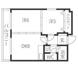 ドミローレル第8[11階]の間取り