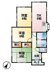 [一戸建] 千葉県東金市殿廻 の賃貸【/】の間取り