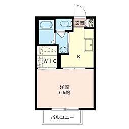 トップガーデンA[1階]の間取り