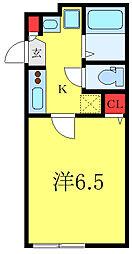 グランクオール板橋本町イーストレジデンス 1階1Kの間取り