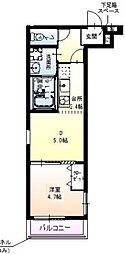 Osaka Metro御堂筋線 江坂駅 徒歩10分の賃貸アパート 1階1DKの間取り