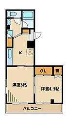 YFC南台[1階]の間取り