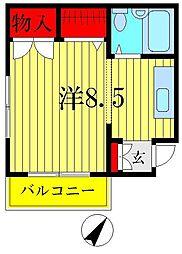 キャッスルII[1階]の間取り