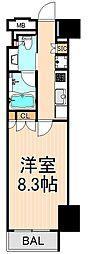 ザ・パークハビオ上野[6階]の間取り