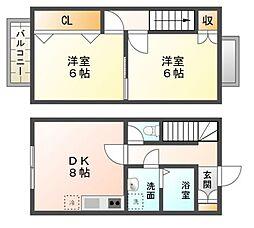 タウンハウス大和田[1階]の間取り