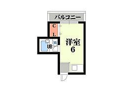 プレアール俊徳道[4階]の間取り