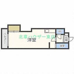 北海道札幌市東区北三十条東15丁目の賃貸マンションの間取り