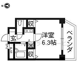 プレサンス京都駅前401[4階]の間取り