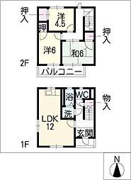 [タウンハウス] 愛知県みよし市三好丘3丁目 の賃貸【/】の間取り