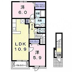グラードII[2階]の間取り