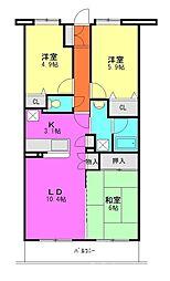 新座四季タウン第2[2階]の間取り