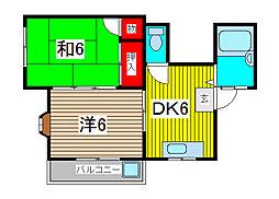 メゾン原[2階]の間取り