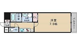 ナンバプレミアムグレース[8階]の間取り