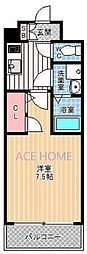 エスプレイス新大阪サウスゲート[605号室号室]の間取り