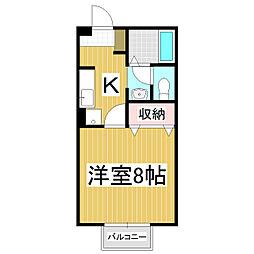 セジュール・ソシア B[2階]の間取り