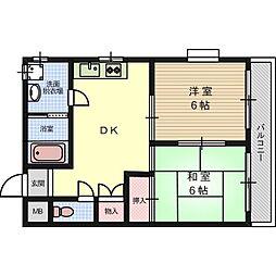 中村ハイツⅡ号館[1階]の間取り