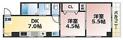 稗田ハイム[2階]の間取り