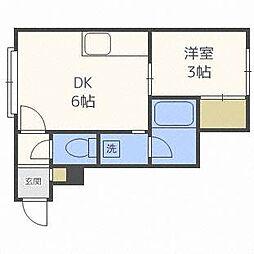 スプリーム豊平弐番館[2階]の間取り