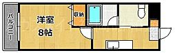 クレスティア天神サウス[2階]の間取り