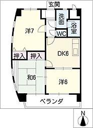 第一福屋ビル[3階]の間取り