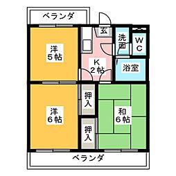 サンセット77[4階]の間取り