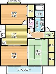セジュールK A棟[2階]の間取り