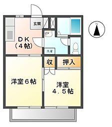 メゾニティータカB[2階]の間取り