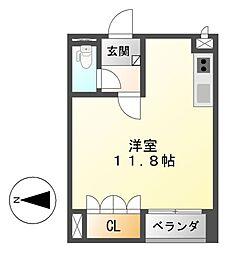 愛知県名古屋市中川区昭和橋通2丁目の賃貸マンションの間取り