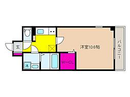 JR東海道・山陽本線 摂津本山駅 徒歩14分の賃貸マンション 1階1Kの間取り