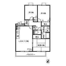 アルファタウン西田原 I[1階]の間取り
