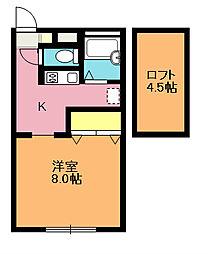 玉野ハイツ[2階]の間取り