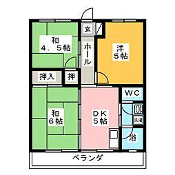 ライオンズマンション[4階]の間取り