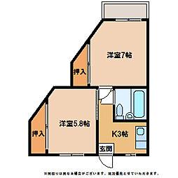 セグラ南昭和[3階]の間取り
