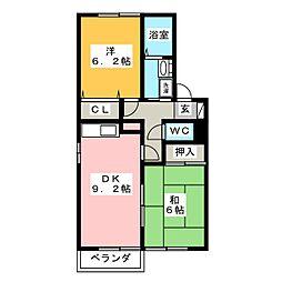 パルディール[1階]の間取り