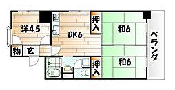 福岡県北九州市八幡東区西本町2丁目の賃貸マンションの間取り