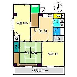 ロイヤルガーデンI[2階]の間取り