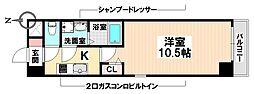 愛知県名古屋市瑞穂区彌富通4の賃貸マンションの間取り