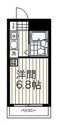 トラスティ永山[208号室]の間取り