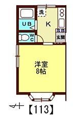 ほうれん荘[123号室]の間取り